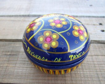 Mexican Royal Blue Taxco Small Jewelry Holder Pottery