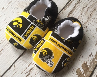 Iowa Hawkeye baby/toddler slippers