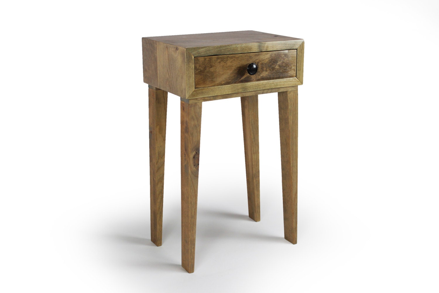Mid Century Modern Nightstand End Table Rustic Nightstand