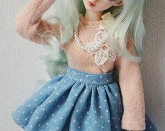 Jeans dot skirt minifee