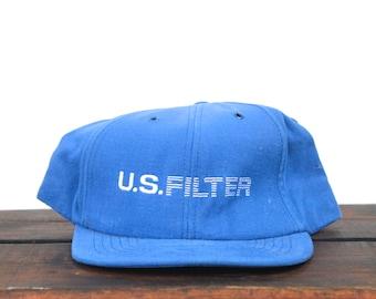 Vintage US Filter Minimal Trucker Hat Snapback Baseball Cap