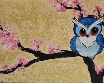 Owlie magnet print