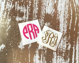 1 Inch Personalized Monogram Decal | Small Monogram Decal | Phone Charger Decal | Key Fob Decal | One Inch Monogram Decal | Monogram Decal