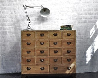 18 Drawer Chest - Apothecary Cabinet