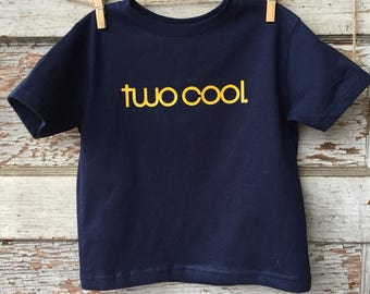 TWO Cool - Second Birthday Tee