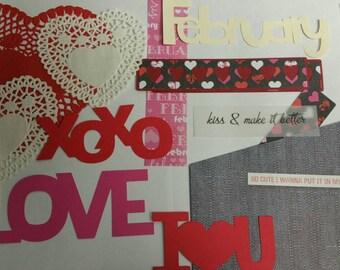 Valentine Scrapbook Kit/Scrapbook Kit/Valentines