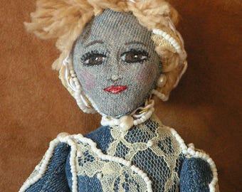 Denim Diva Goddess Art Doll