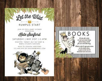 where the wild things are baby shower | etsy, Baby shower invitations