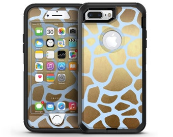 Gold Flaked Animal Light Blue 6 - OtterBox Case Skin-Kit for the iPhone, Galaxy & More