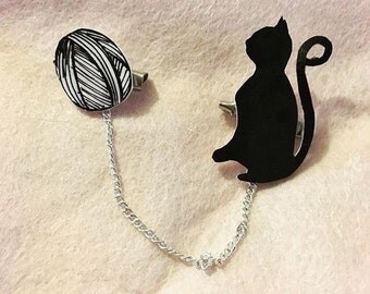 Cat Silhoutte Collar Clips