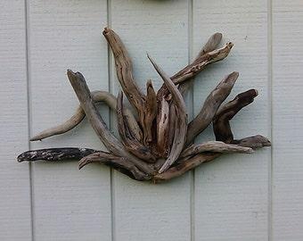 Driftwood wall art roselawnlutheran for Driftwood wall decor