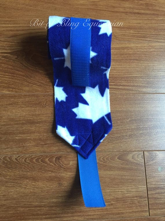 4 Blue Maple Leaf Patterned Polo Wraps