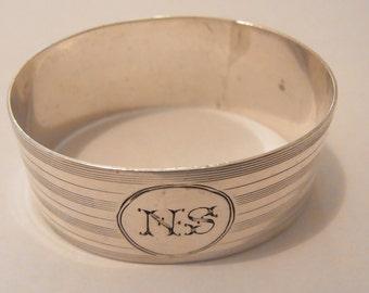 Antique Sterling Silver Napkin Holder Birmingham 1927 Antique Napkin ring Silver Napkin Holder 1927 Silver Tableware Elegant Silver Table