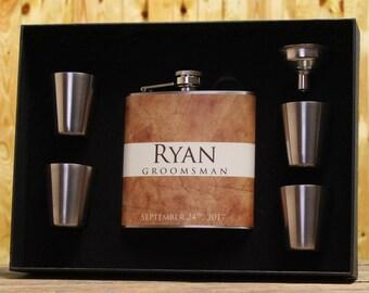 Groomsmen Gift, Personalized Flasks for your Groomsmen