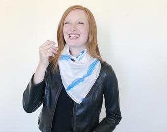 Gray Ink Wash Square Scarf