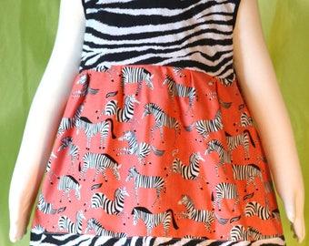 Girls Zany Zebra Dress