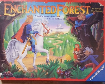 Vintage Ravensburger board game Enchanted Forest entirely complete and full of opportunities for imaginative and creative play