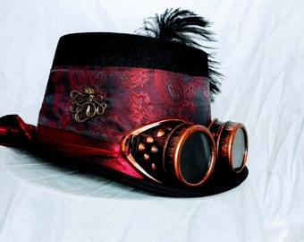Steampunk Brocade Victorian Top Hat - designed and decorated as requested