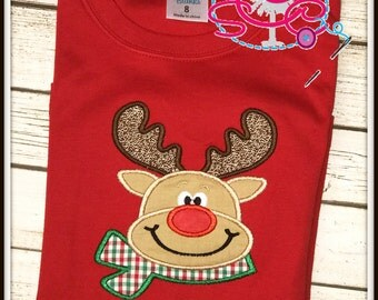 Personalized Scarf Reindeer Shirt/Bodysuit