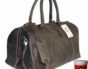 Travel Bag - Sports Bag LONDON made of buffalo leather
