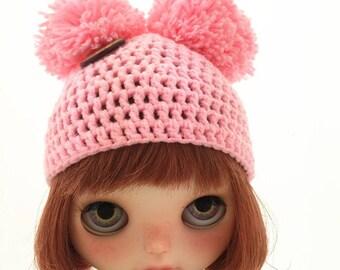 Blythe ball-ball hat pale  pink