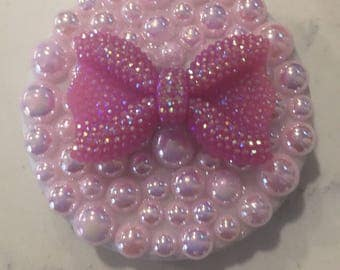 Pink Pearl Compact Mirror