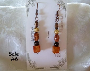 Clearance Sale:  Dangle Earrings of Your Choice, Five Different Pairs on Each Listing E6-10