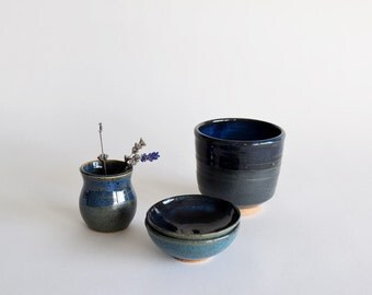 Pottery Gift Set - A Little Blue Gift Bundle - Pottery Gift Set - Discounted Bundle