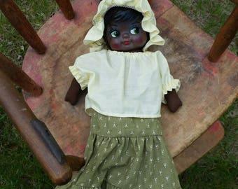 """60's African American Folk Cloth 15"""" Doll"""