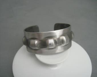 Tough massive modernist pewter bracelet, Norway.