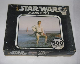 Vintage 1977 Star Wars jigsaw puzzle Luke Skywalker by Kenner