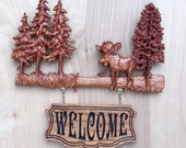 Moose Sign, Rustic Moose ...