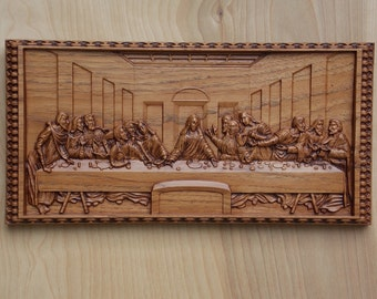 Last Supper Wall Decor wooden last supper | etsy