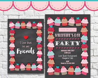 Cupcake Invitation 1 - PDF JPG Instant Download Printable Digital File