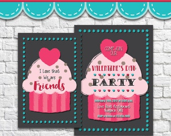 Cupcake Invitation 2 - PDF JPG Instant Download Printable Digital File