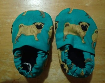 Pug Dog Crib Shoes