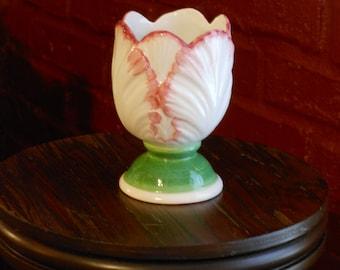 Italian Porcelain Tulip Jam/Condiment Dish