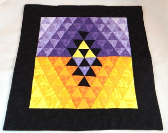 Legend of Zelda Triforce quilted wall hanging