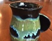 Custom Hands Warm Mug - Sea Treasure Glaze