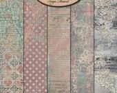 ON SALE Digital Scrapbook, Papers, Artsy, Blended Papers: Looking Back
