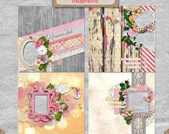 Difital Scrapbooking, Baby Girl Quick Page Set 4: You're My Lil' Girl