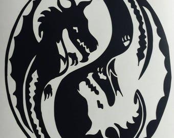 Ying & Yang Dragons