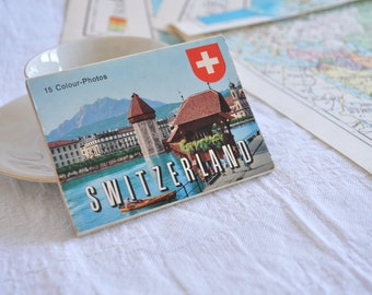 Block of vintage cards of Switzerland