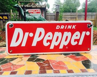 Vintage Porcelain Drink Dr. Pepper Sign