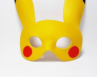 Leather Pikachu Mask Pokémon Mask  Pokémon Cosplay