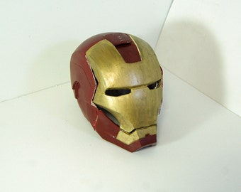 Iron man helmet for cosplay etc. (handmade, small size, unfinished)