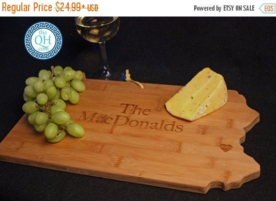 Penn State Wedding Gifts: 3 DAY SALE Pennsylvania State Shaped Cutting By AestheticWood