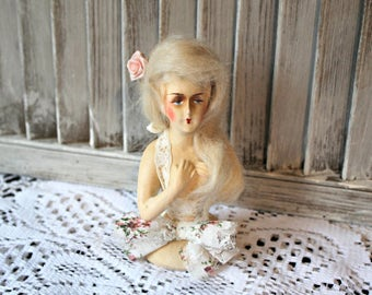 Vintage! Half doll! 1920's. Pin cushion doll.