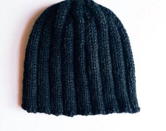Men's simple knit beanie