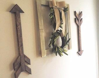 Set of 2 handmade wooden arrows